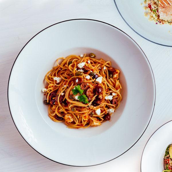 Spaghetti Mediterraneo dish at PizzaExpress Cyprus