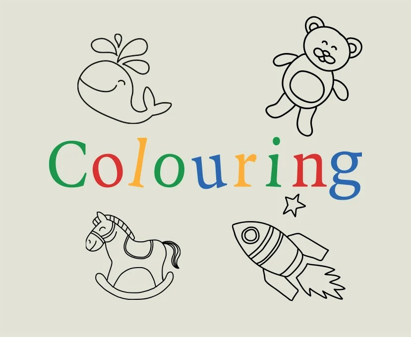 Downloadable printable colouring packs