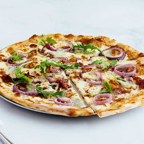 Gorgonzola Con Fichi romana pizza from Pizza Express Cyprus