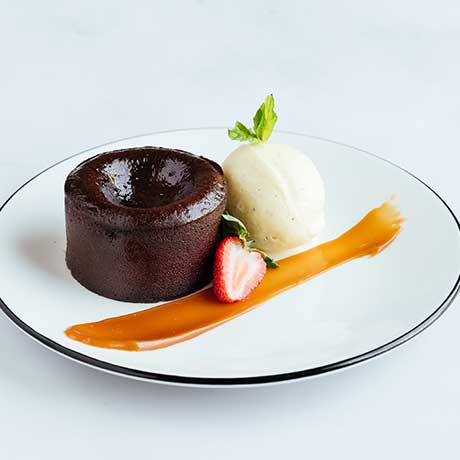 Dark Chocolate Lava Cake from Pizza Express Cyprus
