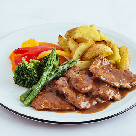 Pork cutlets in mushroom sauce from Pizza Express Cyprus