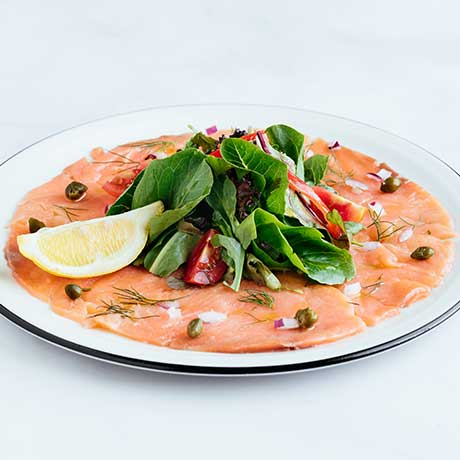 Smoked Salmon carpaccio from Pizza Express Cyprus
