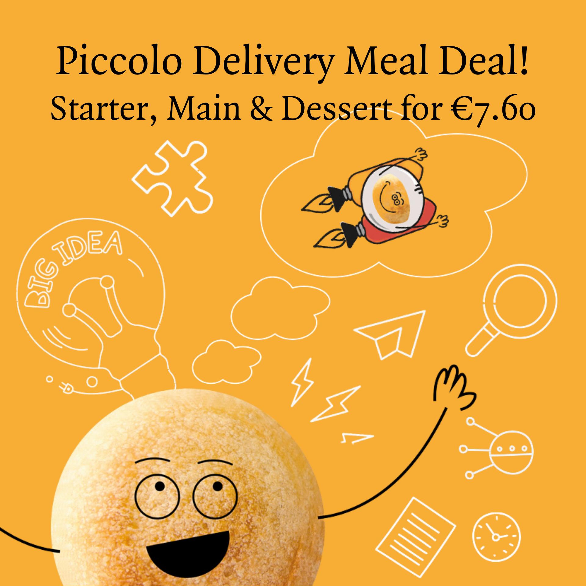 piccolo kids offer starter, main & dessert for 7.60