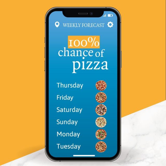 Whaattt? This week's forecast shows a 100% chance of pizza… every day!  #PizzaExpressCY #ColumbiaRestaurants #Limassol #Paphos #Cyprus